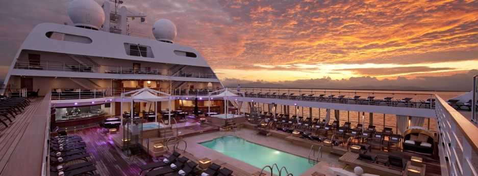 Pool Deck at Sunrise, Seabourne Odyssey