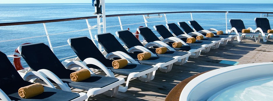 Deckchairs on a WindStar cruise
