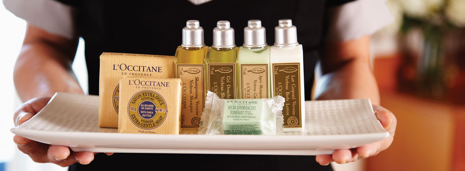 L'Occitane products on board