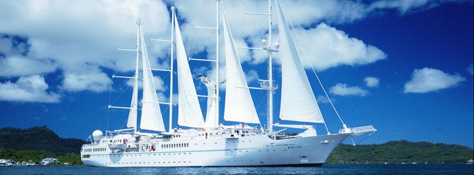 The Wind Star under sail