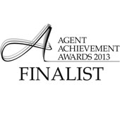 Finalist in the Agent Achievement Awards 2013