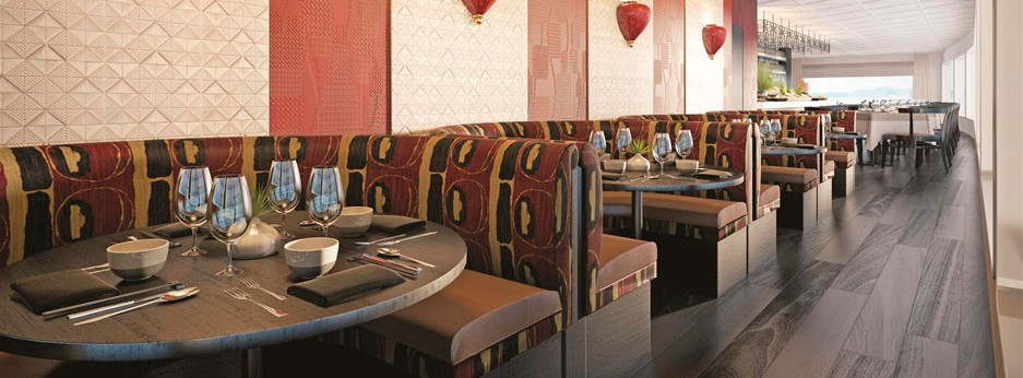 The MS Anastasia's Indochine Restaurant, river cruises in Russia with APT