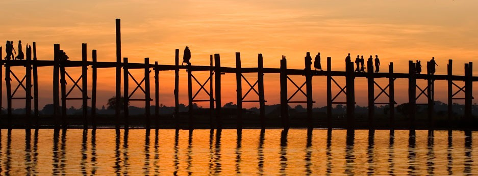 Bein Bridge, Mandalay, Burma