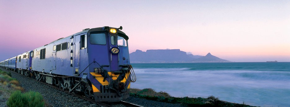 The Blue Train and Table Mountain, South Africa, courtesy of Great Rail Journeys