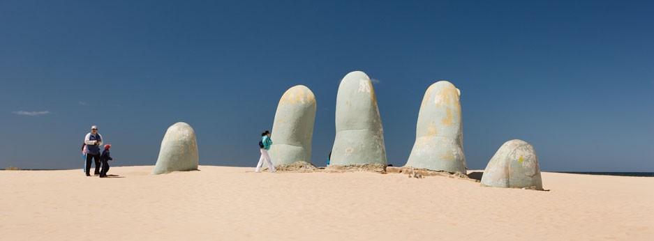 Celebrity Cruises, statue on the beach, Uruguay, South America
