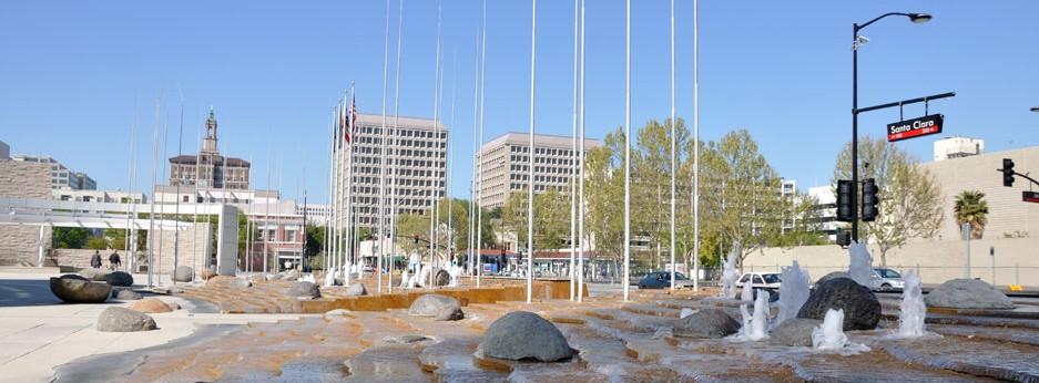 Fountain at San Jose City Hall, California