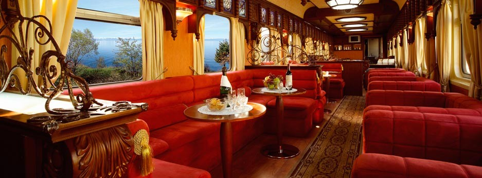 Gold Lounge Car interior, Golden Eagle Luxury Trains