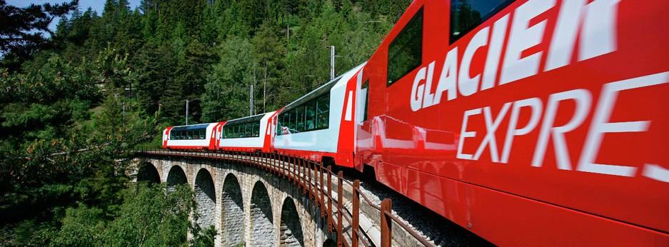 Glacier Express, Swiss Alps - courtesy of Great Rail Journeys