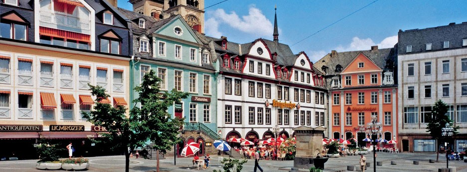 Koblenz market place, Germany - courtesy of Rail Discoveries