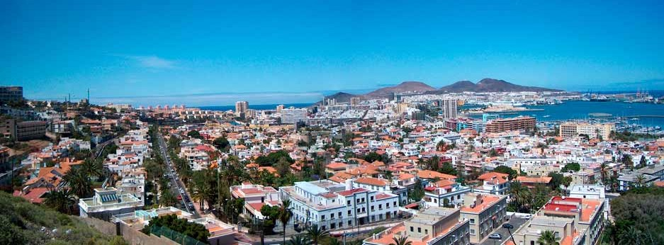 Panoramic view of Las Palmas de Gran Canaria