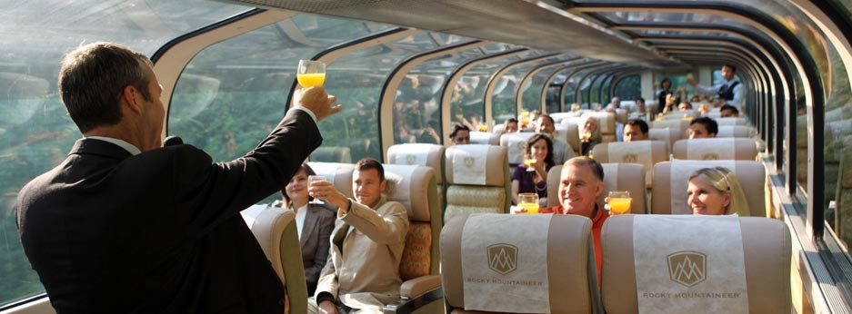 A warm welcome to the Rocky Mountaineer