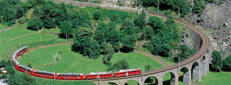 Bernina Express, courtesy of The Swiss Holiday Company