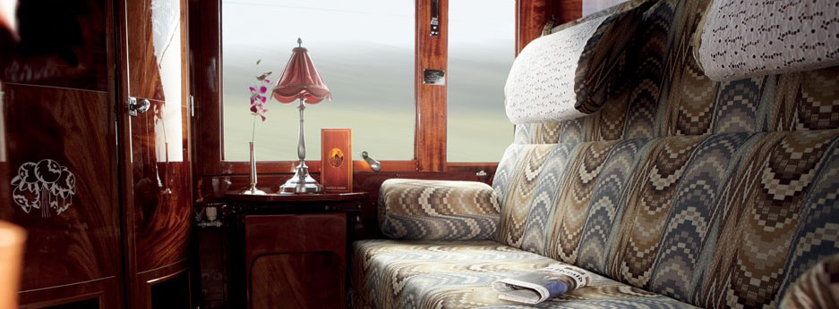 Carriage Interior on the Venice Simplon Orient Express
