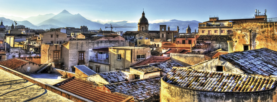 View of Palermo with roofs, Sicily, Italy - courtesy of Cox and Kings