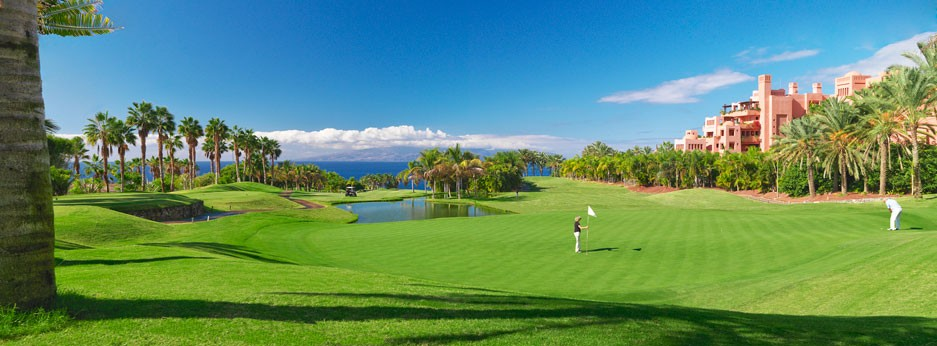 Abama - golf course and hotel panorama