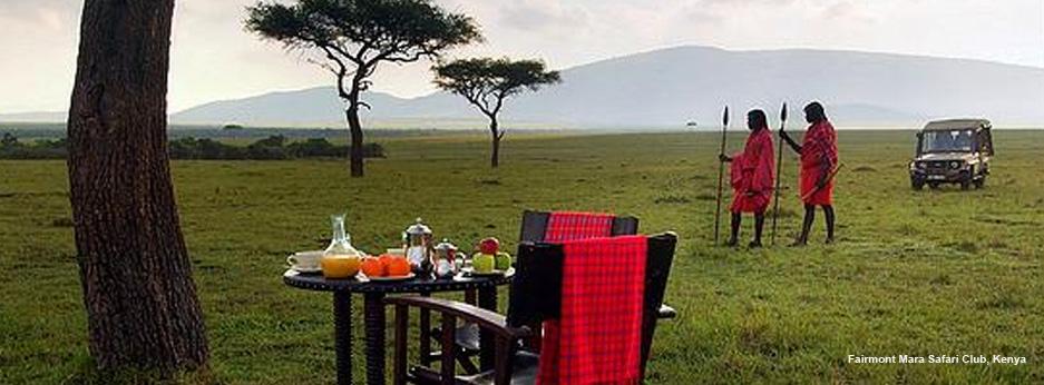 Alfresco breakfast in the Masai Mara, Africa