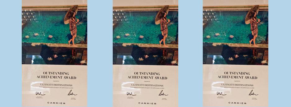 Ultimate Destinations wins Carrier 2015 Outstanding Achievement Award