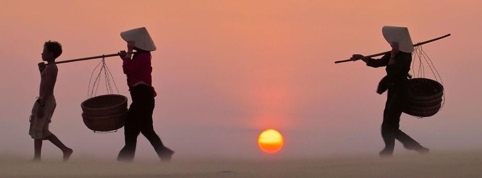 Sunset, Indochina, courtesy of Indus Experiences
