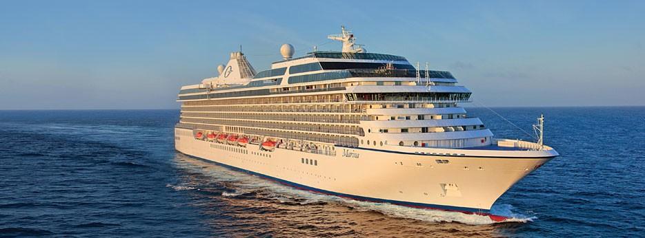 Oceania Marina at sea, Oceania Cruises