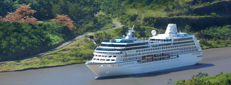 Oceania Regatta on the Panama Canal