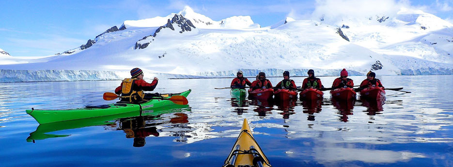 Kayaking in Antarctica with Hurtigruten