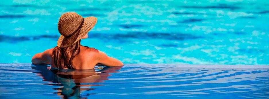 Infinity pool, Seychelles