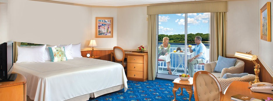 Stateroom on The Queen of the Mississippi, APT river cruises in the USA