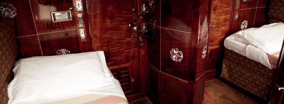 Luxury cabin on the Venice Simplon Orient Express